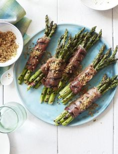 Prosciutto-Wrapped Asparagus with Lemony Bread Crumbs Recipe   http ...
