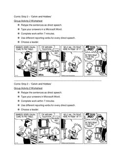 Image result for reported speech comic strips