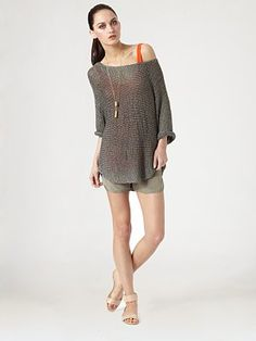 Metallic Sheer Boatneck by Vince #Sweater #Vince
