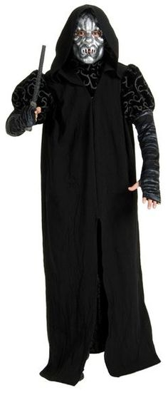 """Harry Potter - Death Eater Deluxe Adult Costume Muggles need not apply. Dark wizards with a """"Dark Mark"""". Help Valdemort on his cryptic crusade! The Death Eater Deluxe Adult Costu Mad Hatter Halloween Costume, Wizard Costume, Scary Costumes, Costume Shop, Movie Costumes, Adult Costumes, Halloween Crafts, Halloween Ideas, Halloween Party"""