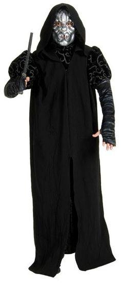 Naamiaismaailman Kuolonsyöjän asu sisältää mustan kaavun ja naaman peittävän naamion. #naamiaismaailma