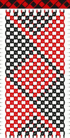 Normal Friendship Bracelet Pattern #679 - BraceletBook.com
