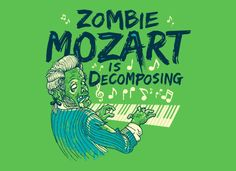 Bahaha...ironic humour, puns, music references, and zombies!  It doesn't get too much better than this, folks.