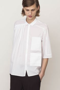 White Pleated Shirt | Verena Schepperheyn | NOT JUST A LABEL