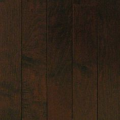 Millstead HS Maple Chocolate 3/8 in. Thick x 3-3/4 in. Wide x Random Length Engineered Click Hardwood Flooring (24.4 sq. ft./case)-PF9595 at The Home Depot