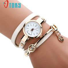 Luxury Quartz Ladies Watch Women Fashion erkek kol saati White Color Faux Leather Band Flower Analog Watches relogio feminino #jewelry, #women, #men, #hats, #watches