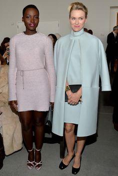 Lupita Nyong'o and Naomi Watts in head-to-toe #CK for the CALVIN KLEIN Fall 2014 Runway Presentation. #NYFW