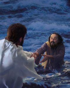 Pedro saiu do barco e caminhou sobre a água em direção a Jesus. Assim que ele tirou os olhos de Jesus, ele ficou com medo, perdeu a fé e afundou-se! Jesus salvou-o, assim como ele nos resgata hoje. Tenha fé! Mantenha seus olhos em Jesus.