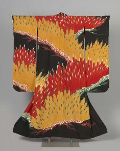 Kimono voor een ongetrouwde vrouw, anoniem, 1905 - 1920