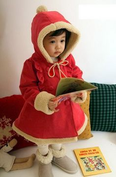 Girls Winter Coat Baby Christmas Clothes Cotton-padded with Hooded Solid double-breasted Children's Winter Jackets(China (Mainland)) Red Winter Coat, Hooded Winter Coat, Girls Winter Coats, Boys Dress Coat, Wholesale Baby Clothes, Baby Girl Winter, Baby Coat, Winter Hoodies, Tops For Leggings