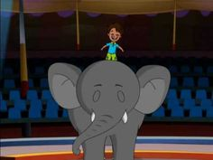 """Kids Song - """"Elephant Steps"""" Elephant Children's song by Patty Shukla"""