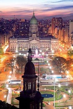 Great view of Congreso, Buenos Aires, Argentina Places Around The World, The Places Youll Go, Travel Around The World, Places To See, Around The Worlds, Argentine Buenos Aires, Wonderful Places, Beautiful Places, Magic Places
