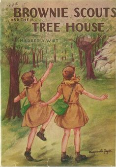 Brownie Scouts and Their Tree House | Mildred Wirt Benson Collection | Iowa Digital Library