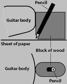 pencil jig for accurate body tracing method