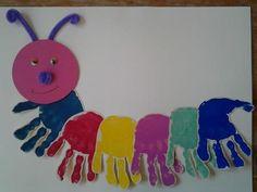 Caterpillar craft idea for kids Animal Crafts For Kids, Easy Crafts For Kids, Summer Crafts, Toddler Crafts, Diy For Kids, Daycare Crafts, Preschool Crafts, Arts And Crafts, Paper Crafts