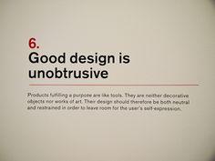 6. Dieter Rams: Principles for Good Design