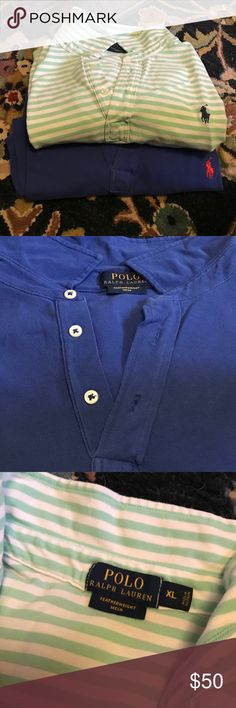 Two men's Ralph Lauren polos Only worn once.  Two polos. Polo by Ralph Lauren Shirts Polos