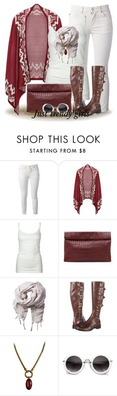 """""""poncho outfit"""" by justtrendygirls ❤ liked on Polyvore featuring Alexander McQueen, Tresics, Marie Turnor, Love Quotes Scarves, ECCO and Yves Saint Laurent"""