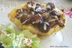 Man Pleaser Spaghetti Squash--just add bacon cheddar brats. Low carb and so satisfying. Banting Recipes, Diabetic Recipes, Low Carb Recipes, Snack Recipes, Healthy Recipes, Snacks, Hormel Bacon, Recipe Makeovers, Recipes