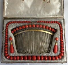 coral demi parure, late 18th cent.