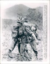 - Injured US Marine Viet Nam War Original UPI John Schneider News Wire Photo