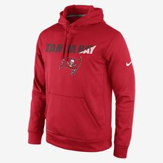 REPRESENT YOUR TEAM The Nike KO Staff Practice (NFL Tampa Bay) Men's Performance Hoodie is designed with proud team details on warm Therma-FIT fabric for a loyal look and lasting comfort, indoors and out. Benefits Therma-FIT fabric helps keep you warm and comfortable Mesh-lined hood with drawcord for breathable coverage and warmth Panels under sleeves and at sides give you wide range of motion Kangaroo pocket Product Details Fabric: Therma-FIT 100% polyester Machine wash Imported