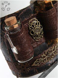 Steampunk Alchemist's wristband RQBL-SP057   Fantasmagoria.eu - Gothic Fashion boutique