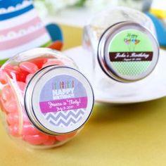Personalized Mini Glass Birthday Candy Jar