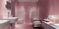 Get the most unique bathroom design in the world tips and advice here for free. Offers a source on bathroom interior design topics and guide. Pink Bathrooms Designs, Contemporary Bathroom Designs, Bathroom Tile Designs, Bathroom Design Luxury, Small Bathrooms, Pink Bathroom Tiles, Girl Bathroom Decor, Bathroom Ideas, Bathroom Grey