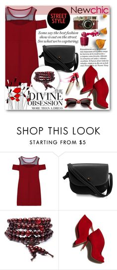 """""""NewChic"""" by tanja133 ❤ liked on Polyvore featuring Vera Wang, Leica, Gianvito Rossi, ZeroUV, chic, New and newchic"""
