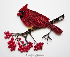 Quilled Maine Northern Cardinal- by: Stacy Lash Bettencourt