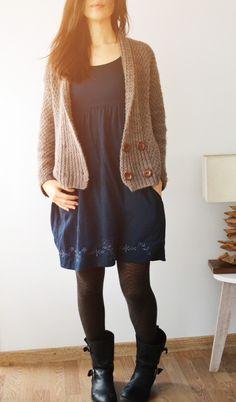Modèle gilet Olgate tricoté en Boréal de Fonty #tricot