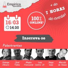 Evento online sobre Marketing Digital e Ecommerce.    http://www.empiricaspecialists.com.br/