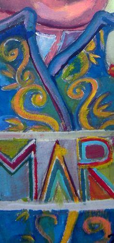 San Martin, acrylic on canvas, 42 x 59 cm. 2012. Cuadro en venta de la Serie Historia Argentina del artista plastico Diego Manuel
