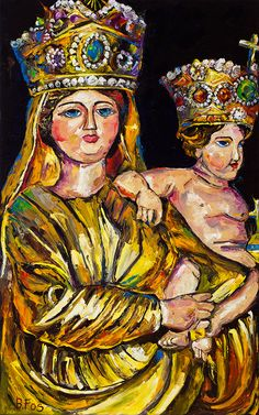 Our Lady of Prompt Succor by Becky Fos  #beckyfos