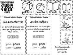 Compañeros maestros y maestras compartimos con todos ustedes este fabuloso interactivo para trabajar sobre el aumentativo y diminutivo, esperamos sea Third Grade, Classroom, Interactive Books, Teacher Lesson Plans, Spanish Worksheets, Vocabulary, Read And Write, Class Room, Key Stage 3