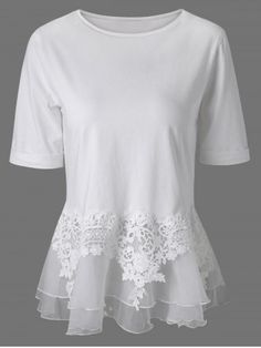 Lace Splicing Layered Blouse