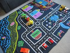 Little Ladybird: Make your own kid's car play mat. It's so easy and cheap!!
