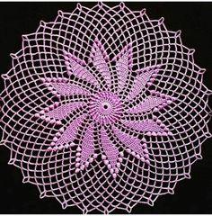 Lace Patterns, Knitting Patterns, Crochet Patterns, Crochet Bedspread, Crochet Doilies, Crochet Trim, Crochet Lace, Lace Decor, Purple Love