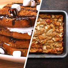 Featuring Mixed Berry French Toast, S'mores French Toast, Strawberry Cheesecake French Toast, Chocolate Banana French Toast Breakfast Bake and Apple Cinnamon French Toast Bake Perfect Breakfast, Breakfast Toast, Breakfast Recipes, Dessert Recipes, Breakfast Potatoes, Breakfast Muffins, Mini Muffins, Muffin Recipes, Brunch Recipes