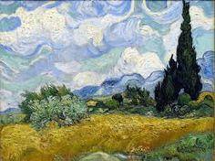 Campos con cipreses. Vincent van Gogh