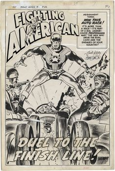 Gallery of Comic Art by Jack Kirby : Fighting American, Issue Page 1 Comic Book Pages, Comic Page, Comic Book Artists, Comic Books Art, Jack King, Jack Kirby Art, Book Creator, Western Comics, Comic Book Collection