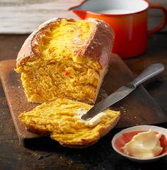 Pan blanco de calabaza de men-plus Blueberry Desserts, Vegan Desserts, Dessert Recipes, Fall Soup Recipes, Pumpkin Recipes, Baked Pumpkin, Pumpkin Bread, Healthy Pumpkin, Bread Twists