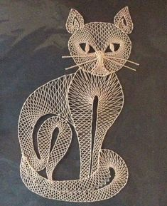Bobbin Lace Patterns, Embroidery Patterns, Bruges Lace, Bobbin Lacemaking, Lace Heart, Point Lace, Cat Crafts, Beaded Ornaments, Cat Pattern
