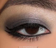 sparkle gray smoky eye