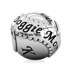 Doggie Mom Bead - Family Pet Dog Charm - Just In Time For Mother's Day!  Fits Pandora, Charmed Memories and All Compatible Brand European Style Charm Bracelets.   The Perfect Gift for any Dog Mom!