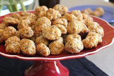 Cream Cheese Sausage Balls. I need to try these with Turkey Sausage.