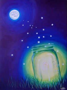 Light Of The Koi Moon Painting by Deda Happel