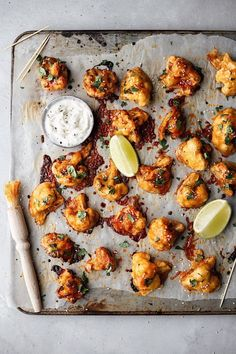 Maple Sriracha Cauliflower Wings with Garlic Lime Ranch - Cupful of Kale