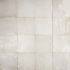 Moroccan Zellige Tiles 10053.  Made from unrefined white clay & glazed with the traditional glass.